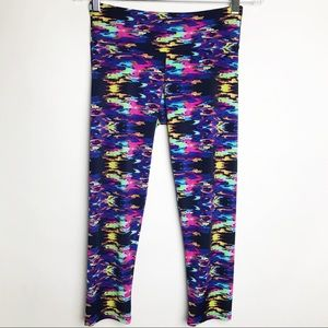 ONZIE Sky Print Cropped Leggings size S/M